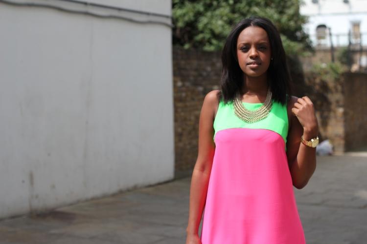 Mini Neon Dress - TFNC Topshop London