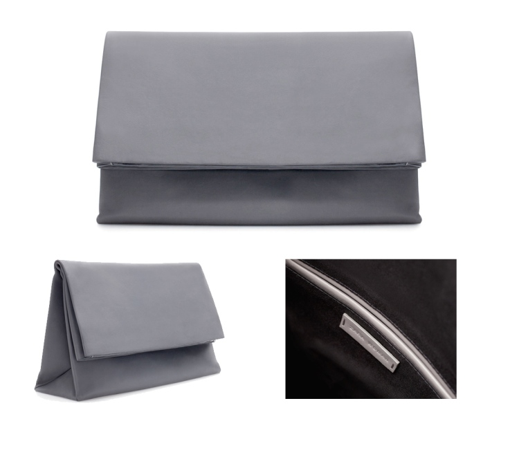 Oversized Grey Zara Clutch Autumn Winter Fall Fashion High street 2013