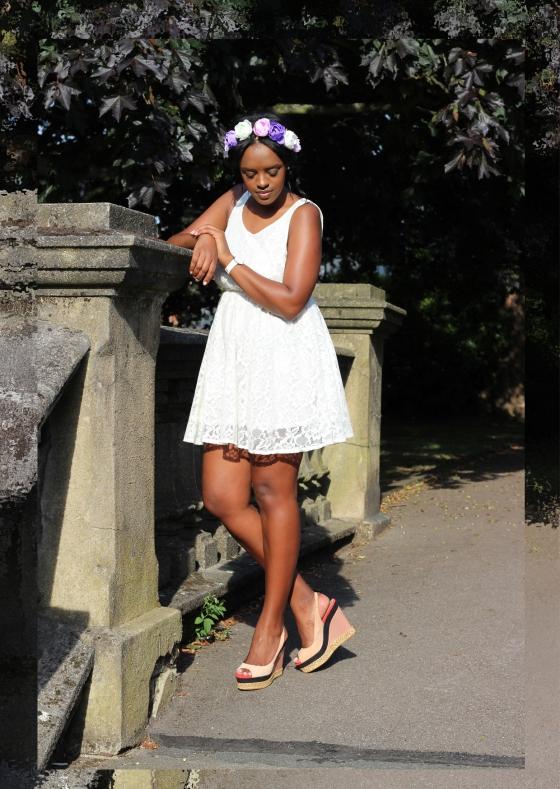 White Lace Summer 2013 hair garland london fashion