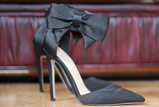 asos bow point pumps