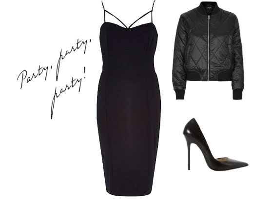 River Island Pencil Dress Zara Court Stiletto heels topshop bomber outfit inspirations a-w 2014 party wear girl london team coup the coup fashion blog adiyam elena