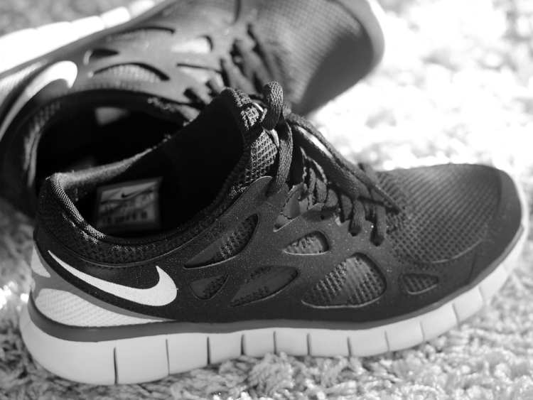Monochrome Nike Free Runs