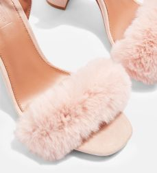 Tophsop Faux Fur Nude Sandals The Coup Fashion