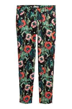 hm floral work trousers fashion